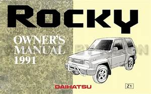 1991 Daihatsu Rocky Repair Shop Manual Reprint