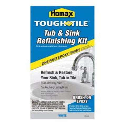 Bathtub Reglazing Kit Home Depot by Homax 26 Oz White Tough As Tile One Part Epoxy Brush On