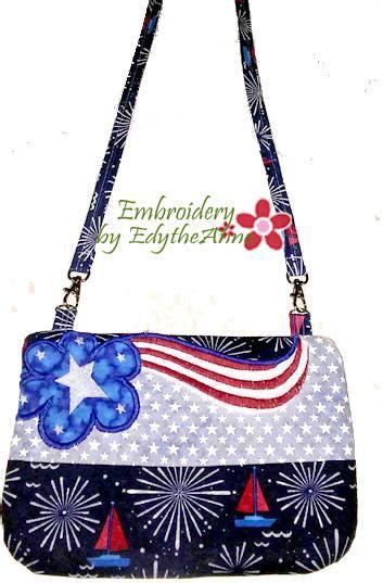 flag loving patriotic   hoop bag digital  embroidery  edytheanne