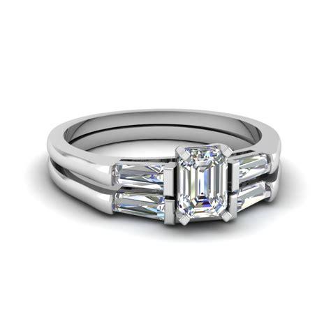 baguette and emerald cut wedding ring in 950 platinum fascinating diamonds