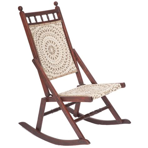 beautiful edwardian antique folding rocking chair
