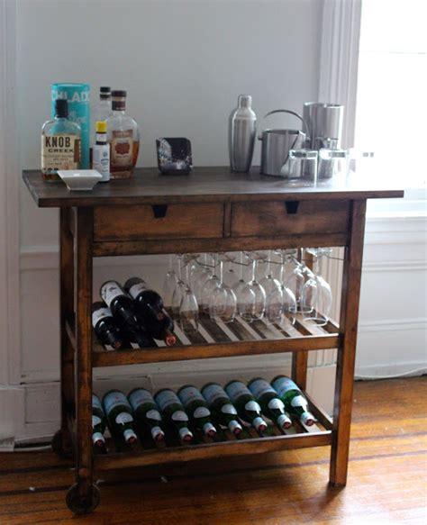 rolling kitchen island table ikea bar cart hack ikea hackers ikea hackers