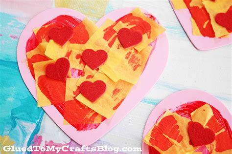 craft foam valentine pizza kid craft glued   crafts