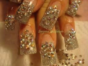 Glitter nail gel art glamorous bling mirror disco ball