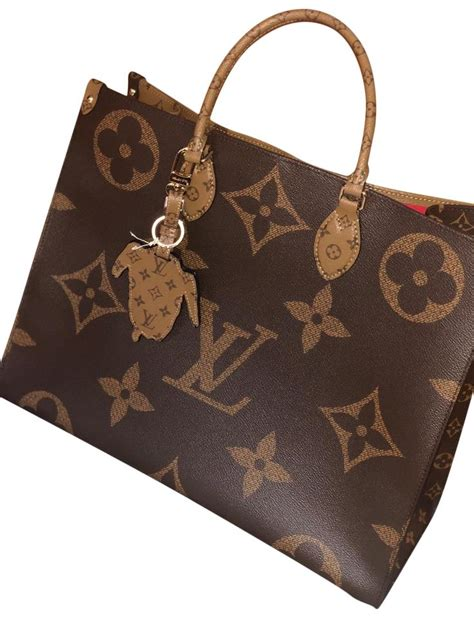 louis vuitton onthego  limited monogram reverse canvas tote tradesy