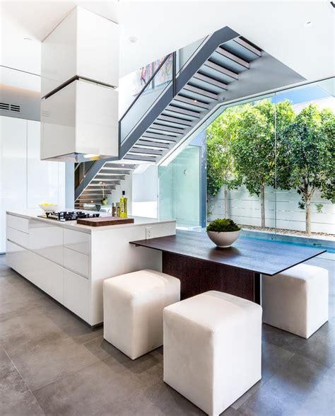 cuisiniste moderne cuisine moderne blanche sans poignee maison d 39 architecte