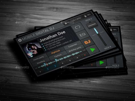 mobile digital dj business card  vinyljunkie graphicriver