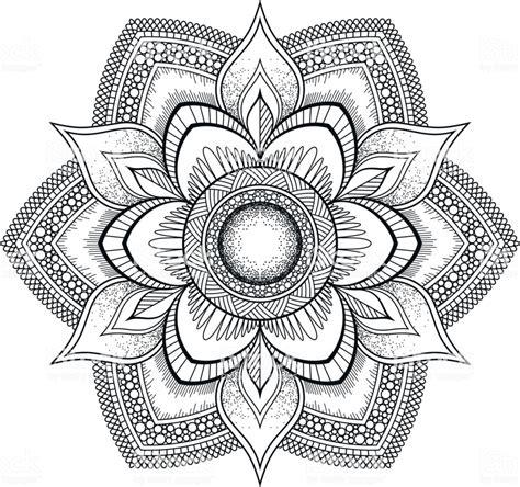 mandala bloem zwart oosterse patroon vectorillustratie islam arabische indiase ottomaanse