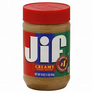 Jif Peanut Butter, # 1 Choice of Choosy Moms, Creamy, 16 ...