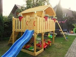 Spielhaus Garten Mit Rutsche : gartenhaus mit rutsche und schaukel kinder spielhaus ~ Watch28wear.com Haus und Dekorationen