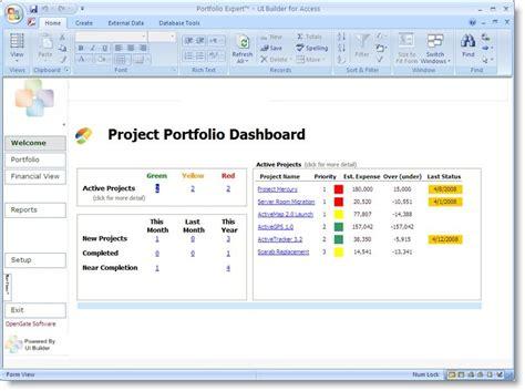 project portfolio dashboard template projectemplates