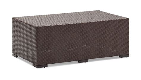 strathwood griffen all weather wicker coffee table natural
