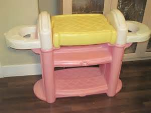 little tikes doll change table bath double highchair