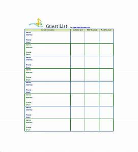Baby Shower Guest List Template - 8+ Free Word, Excel, PDF ...