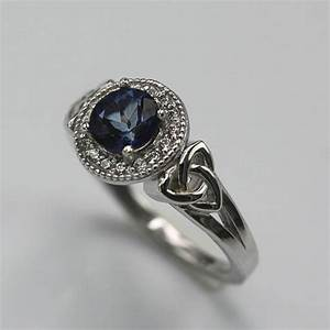 Celtic Orla Sterling Silver Engagement Ring With 1.0Ct ...