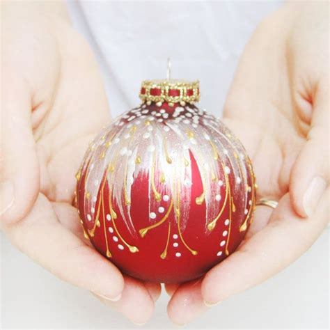 faberge inspired christmas ornament ruby red