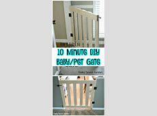 30 Best DIY Baby Gate Tutorials on Cheap Budget DIY & Crafts