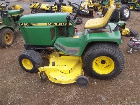 deere 420 lawn garden tractor w 60 mower deck