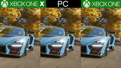 forza horizon 4 xbox forza horizon 4 xbox one x vs xbox one vs pc a technical showcase best looking racing