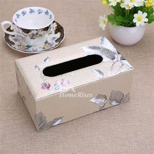 Rectangular Tissue Box Cover Leather Modern For Car Decorative