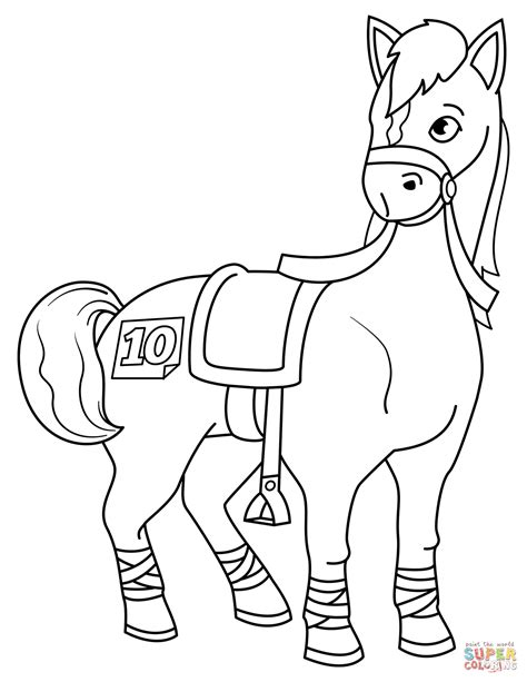 Barrel Racing Horse Coloring Pages Free Coloring Library