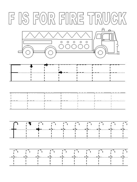 letter f tracing worksheets for preschoolers letters