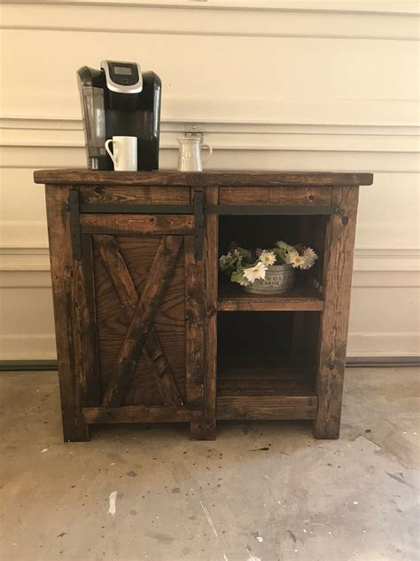 Check out our coffee bar stand selection for the very best in unique or custom, handmade pieces from our signs there are 1214 coffee bar stand for sale on etsy, and they cost $26.81 on average. Farmhouse style coffee bar with barn door slider / Rustic   Barn door sliders, Barn door, Barn ...