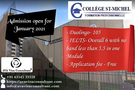 study  canada stmichels college quebec ava visa