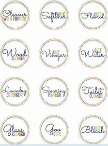 free printable labels for homemade cleanersprint on With clear round printable stickers
