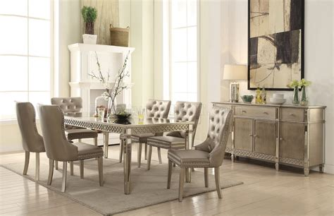 Kacela Pc Dining Set In Champagne By Acme W/options