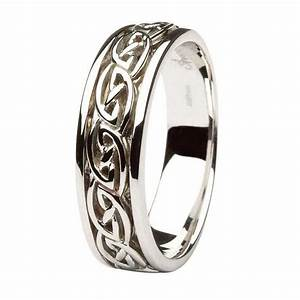 Gents gold wedding ring celtic knot design for Wedding rings celtic design