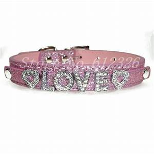 2014 new style pu leather dog collar pets collars with With dog collar bling letters