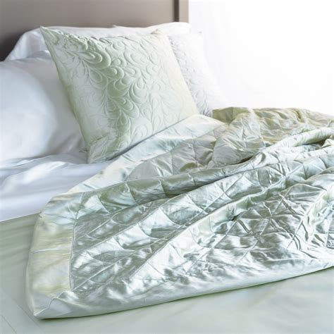 Quilted Coverlet by Silk Quilts Silk Coverlet Quilts Manito Silk