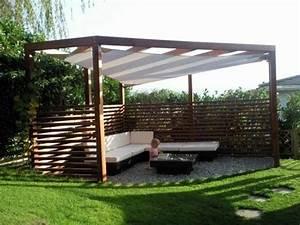 pergola mit sonnensegel eine absolute wohlfuhlgarantie With französischer balkon mit garten sonnensegel