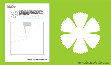 folding flower templates  printable templates coloring pages firstpalettecom