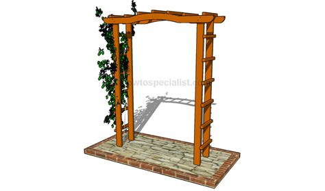 how to build an arbor how to build a grape arbor howtospecialist how to build step by step diy plans