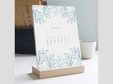 Handmade 2019 Desk Calendar with Wooden Stand Gadgetsin