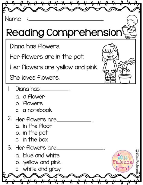 free reading comprehension reading activities
