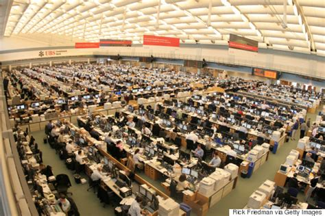 Ubs Trading Floor Stamford Ct by World S Largest Trading Floor Looks Mostly Empty Now