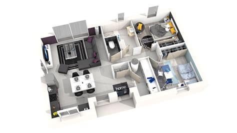plan de maison plain pied 3 chambres avec garage maison astriée 2 ch