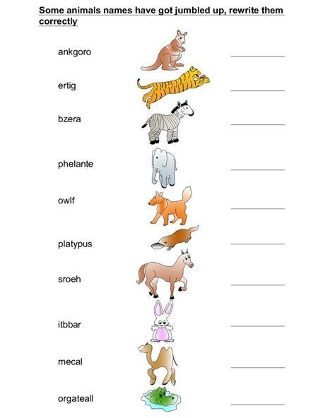 baby animals names worksheet animal worksheet