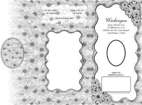 bingkai undangan cdr  contoh desain undangan