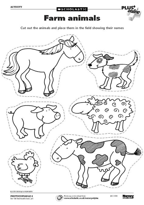 farm animals cut outs 599 best images about work ideas on montessori
