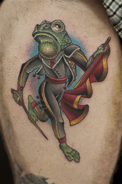 delightful frog tattoos   leave  hopping