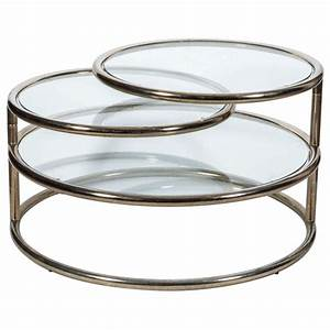 1970s three tier brass cocktail table at 1stdibs With three tier glass coffee table