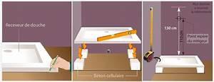Pose Douche Italienne : poser un receveur de douche douche ~ Melissatoandfro.com Idées de Décoration