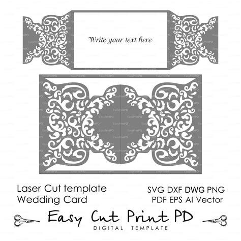Laser Cut L Dxf by Wedding Invitation Pattern Card Template Shutters Gates Doors