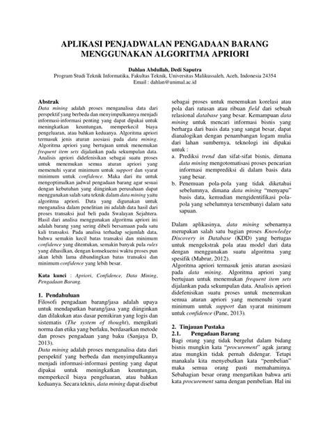 (PDF) APLIKASI PENJADWALAN PENGADAAN BARANG MENGGUNAKAN