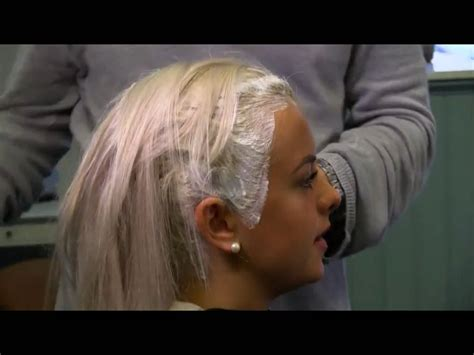 Women Having Their Roots Bleached