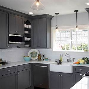 25 Best Ideas About Gray Kitchen Cabinets On Pinterest Grey Cabinets Grey Kitchen Paint